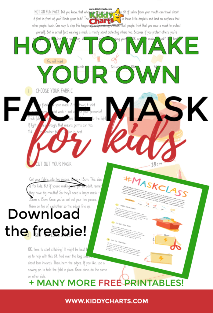 How to make your own face masks for kids