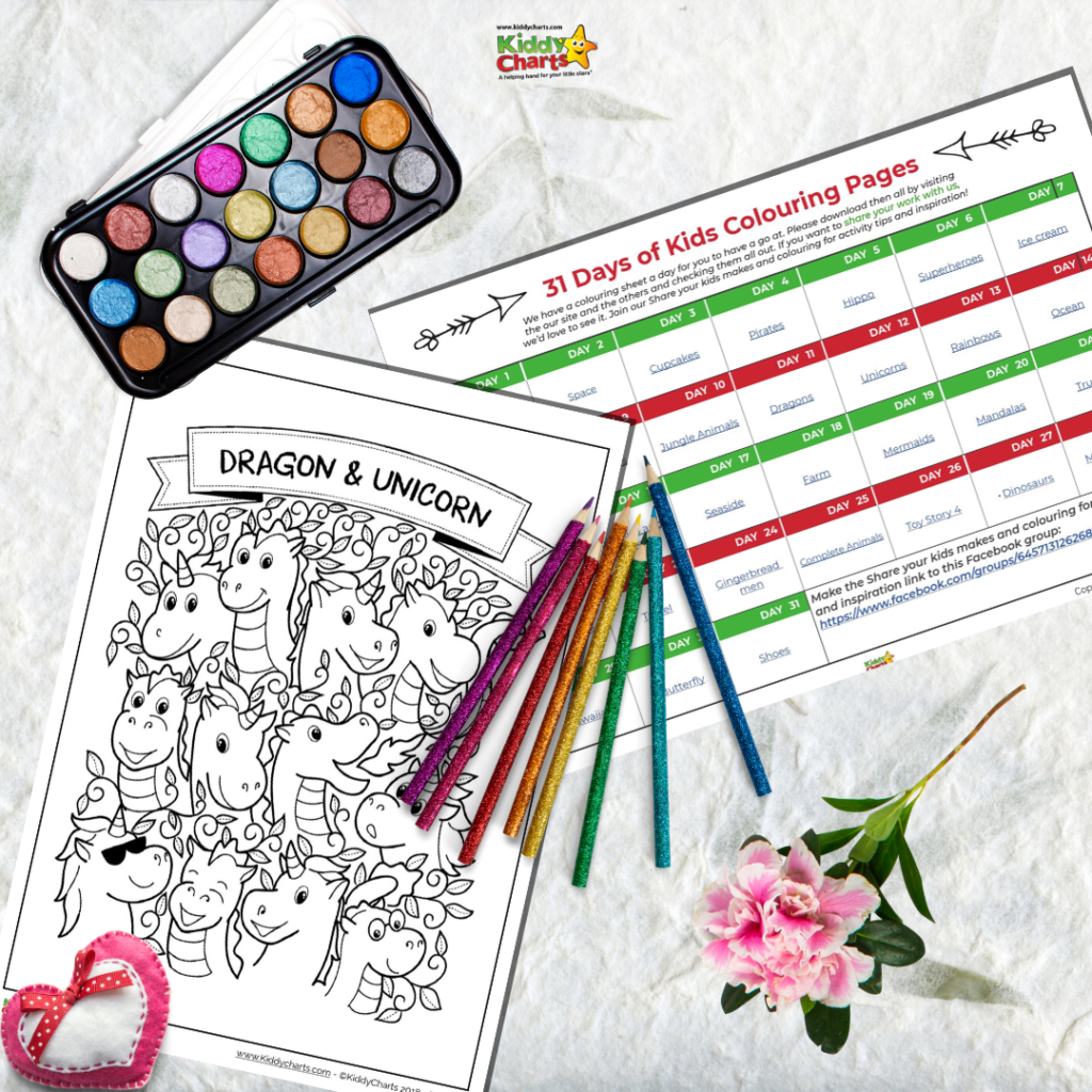 Free printable 31 days of coloring daily challenge
