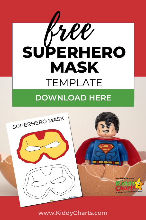 This is a graphic of Printable Superhero Mask for iron man