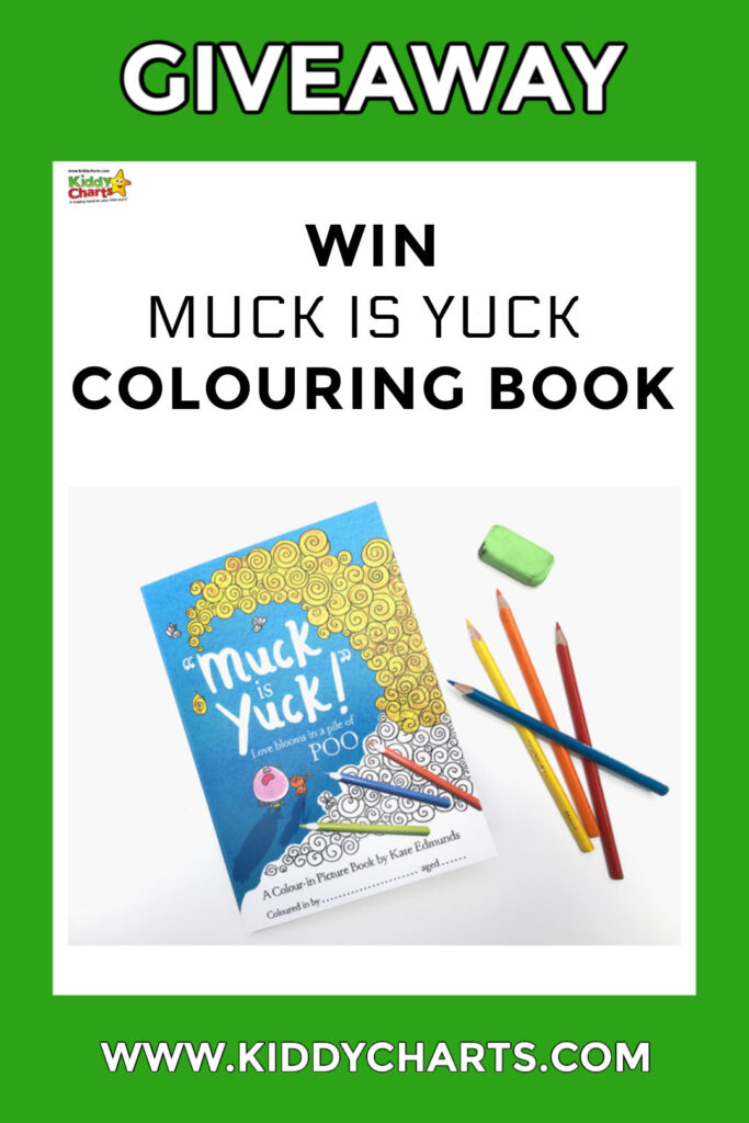 Muck is Yuck colouring book giveaway