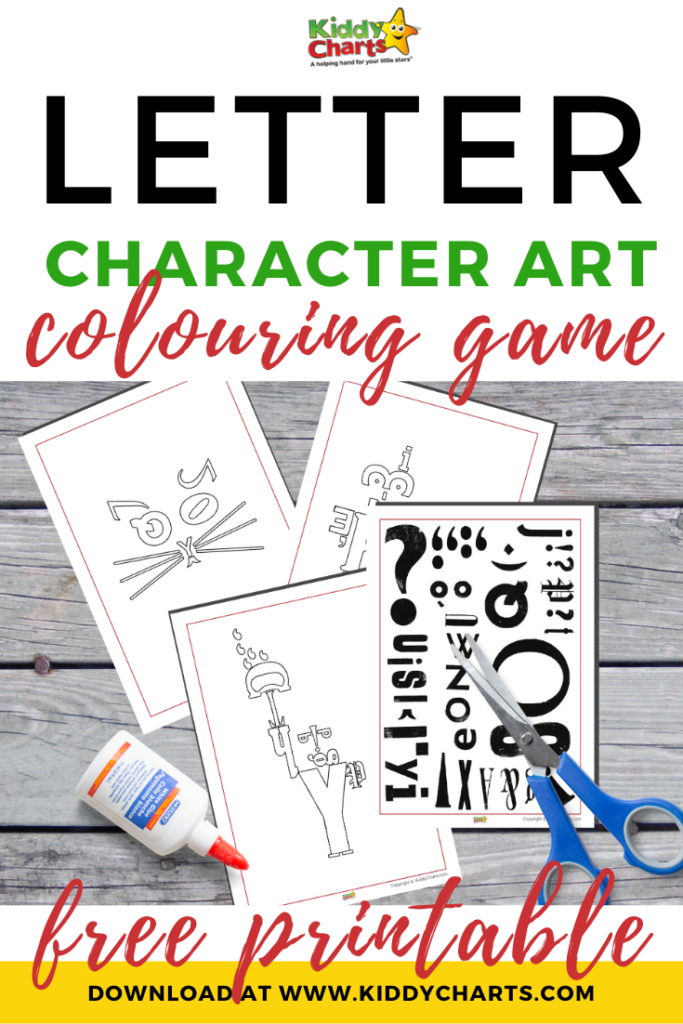 Letter character art colouring game