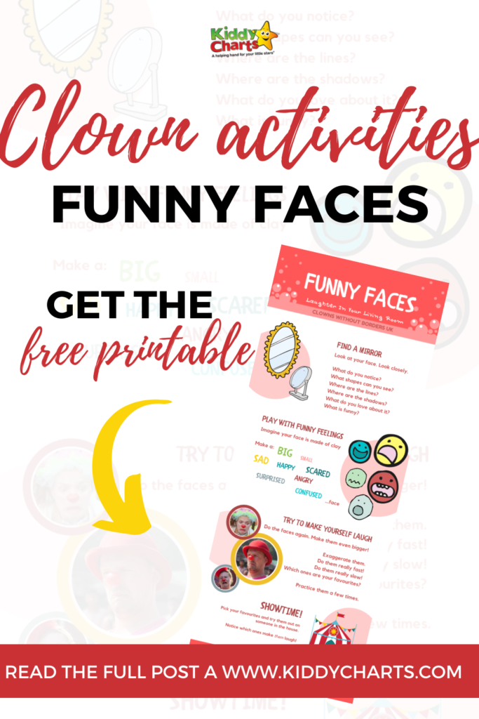Funny faces activity for kids