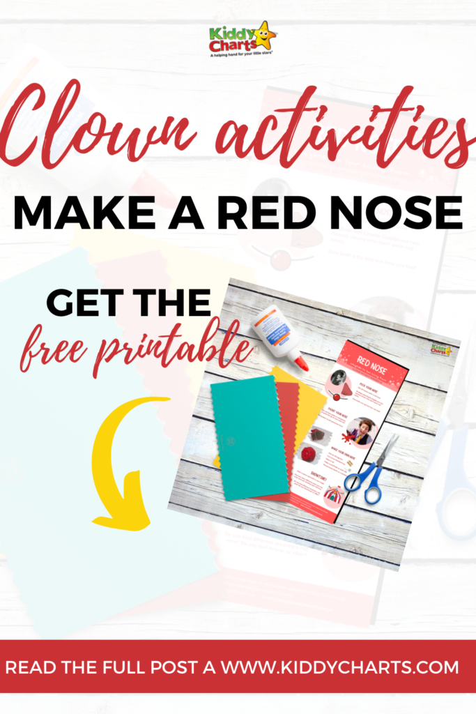 Clown activities: how to make a clowns red nose