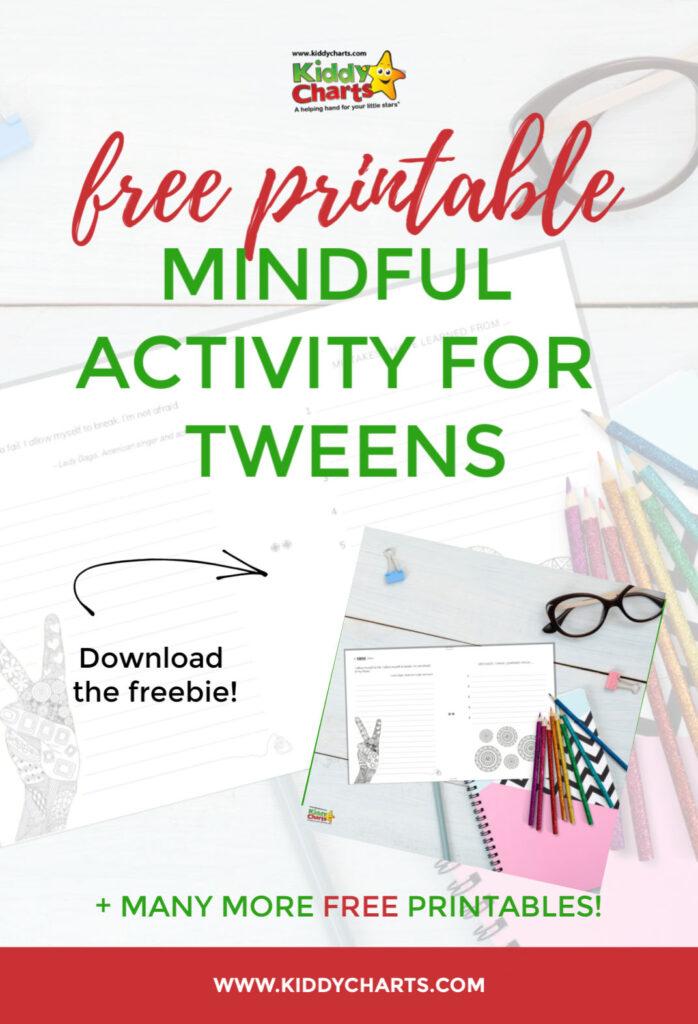 mindful activity for tweens