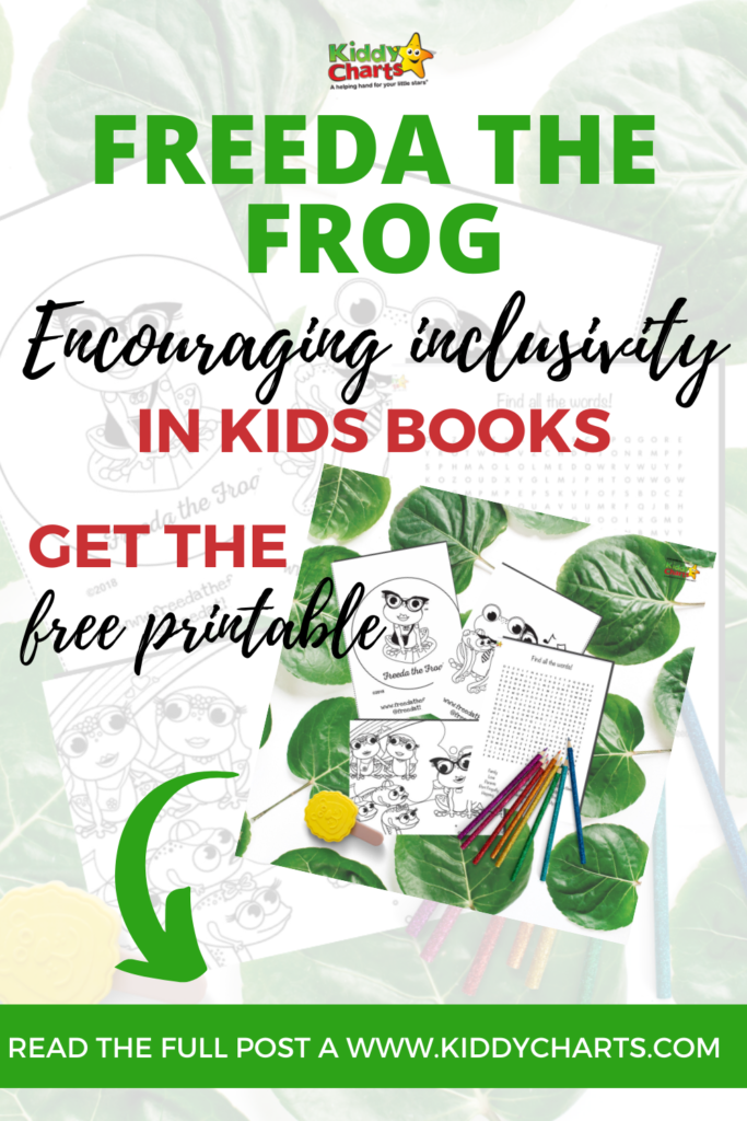 Inclusivity in kids books: Pride activity sheets from Freeda the Frog