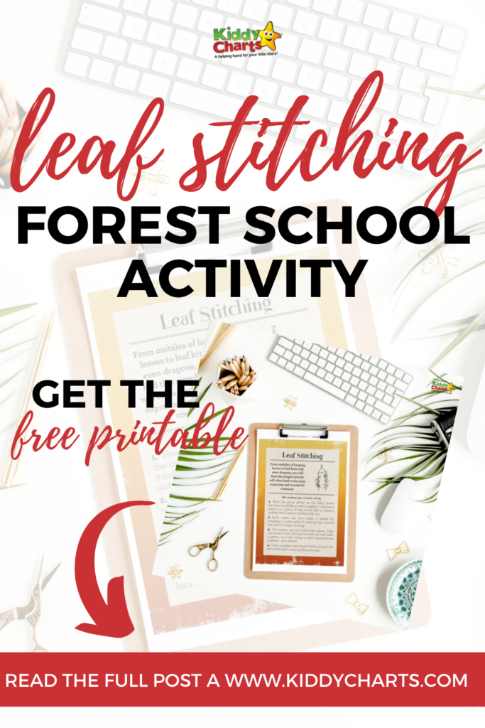 How to leaf stitching: A simple nature craft for kids