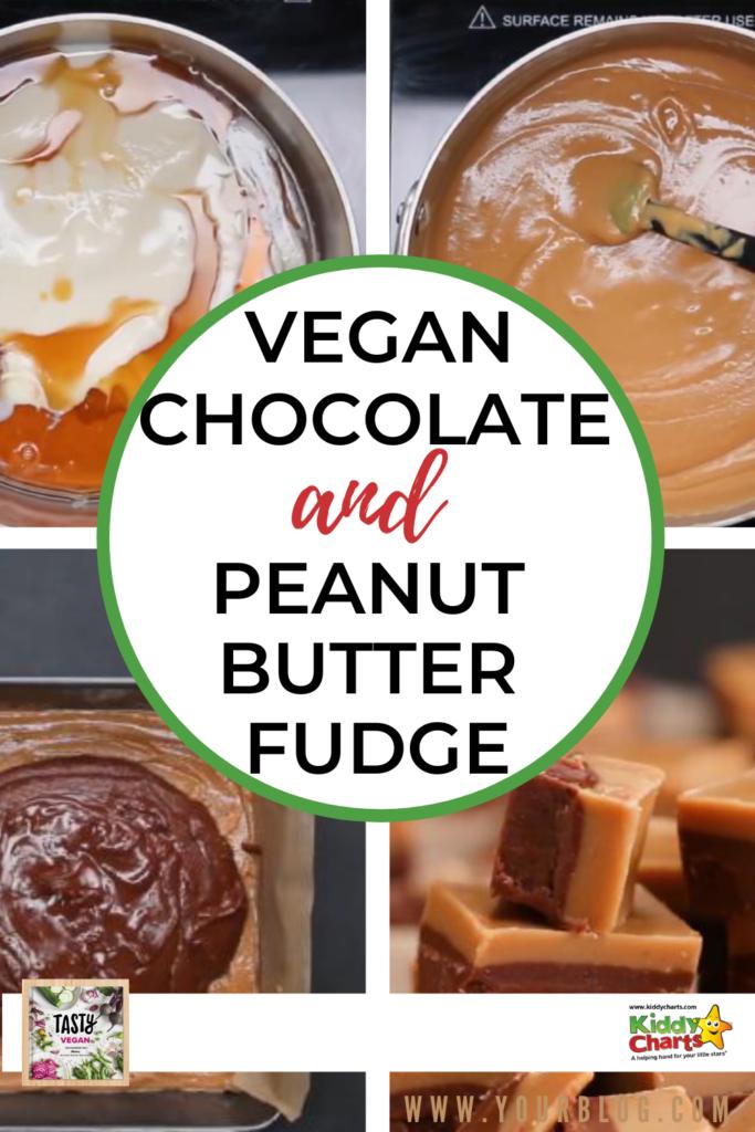 vegan chocolate and peanut butter fudge