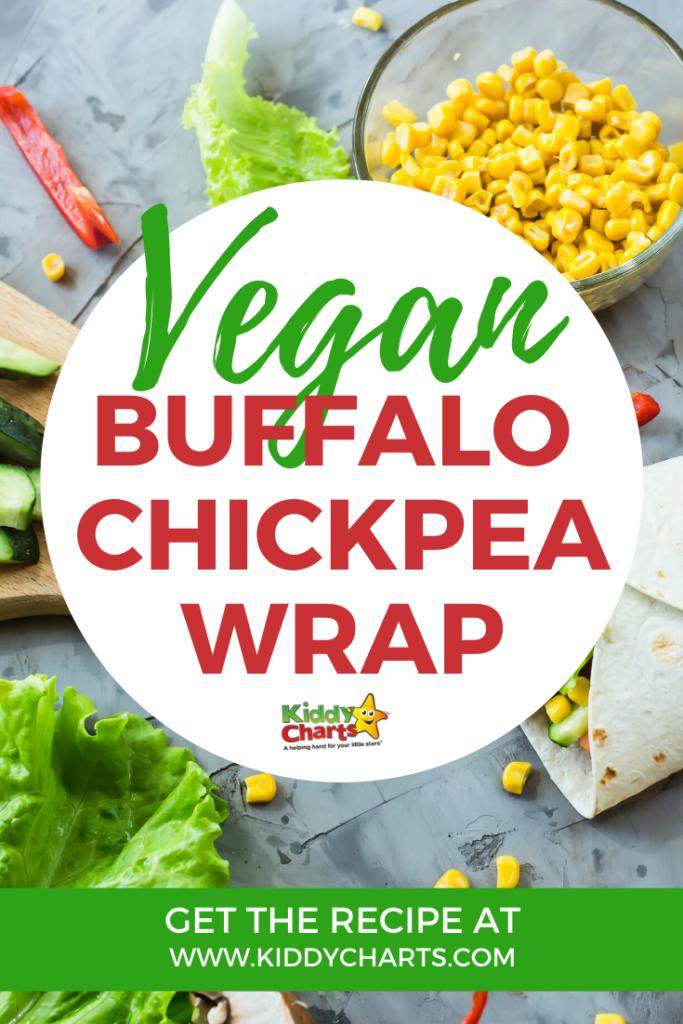 Vegan buffalo chickpea recipe from Tasty Vegan cookbook