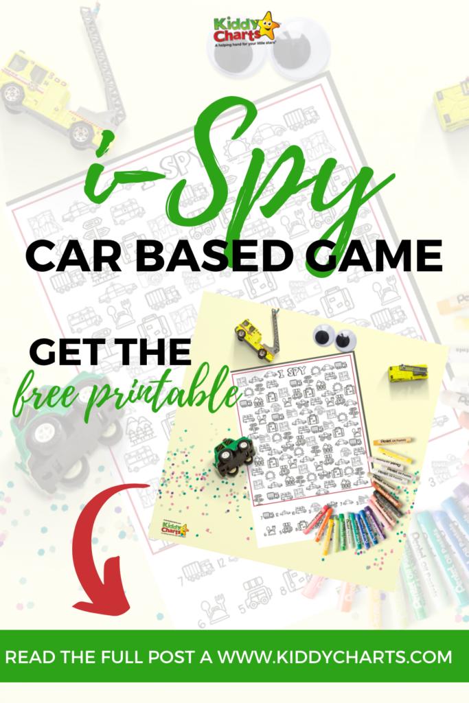 i-Spy Car Based Game - Free Printable!