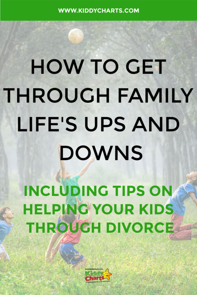 Tips for explaining divorce to your kids: Dealing with family life's up and downs