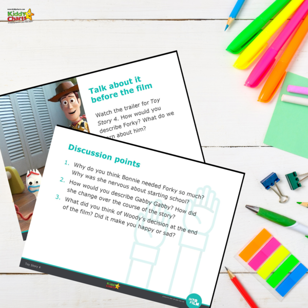 Toy Story 4 Worksheets: How to use Toy Story to help kids to learn