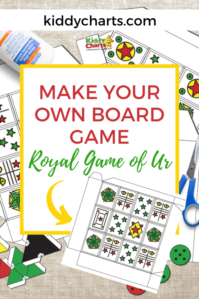 Make your own board game: Royal Game of Ur template