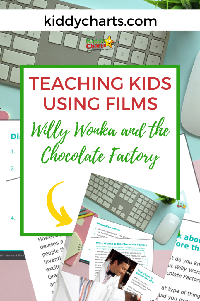 Willy Wonka and the Chocolate Factory film Worksheets to help kids learn