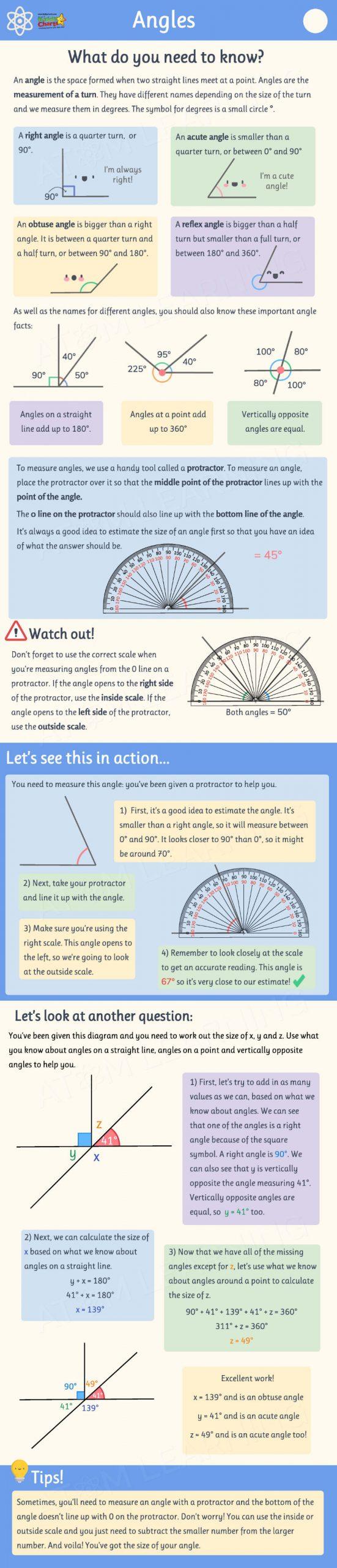 Free maths angles worksheets