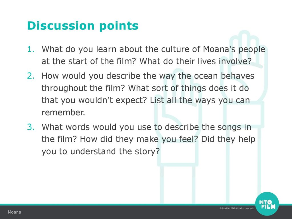 Moana Activity Sheets: How Moana helps kids to learn