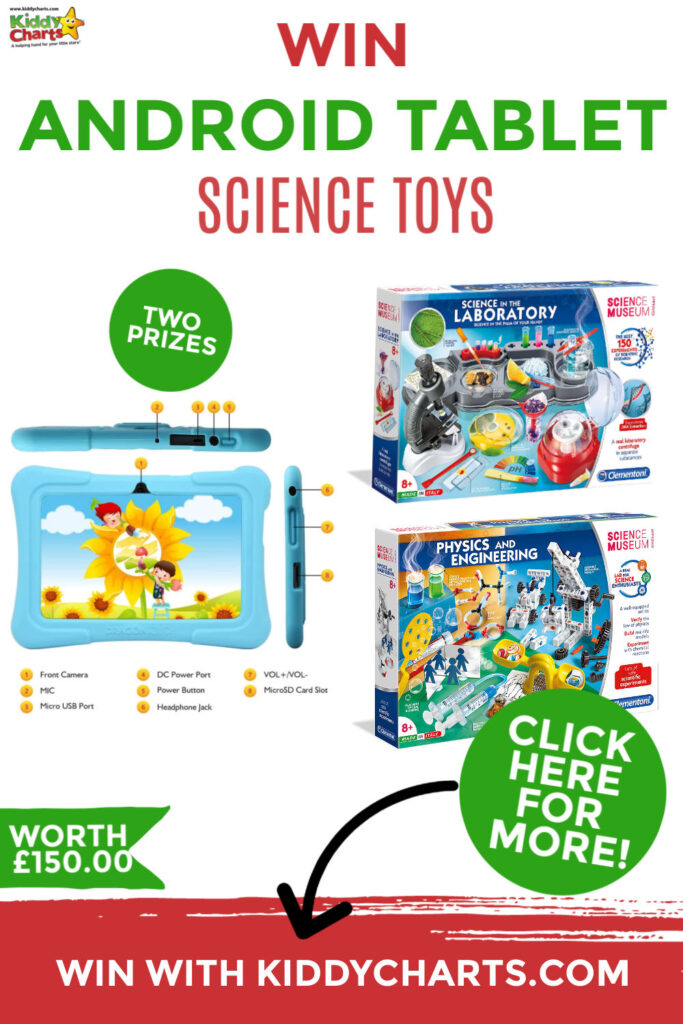 Win tablet and science toys with Tagosi | KiddyCharts