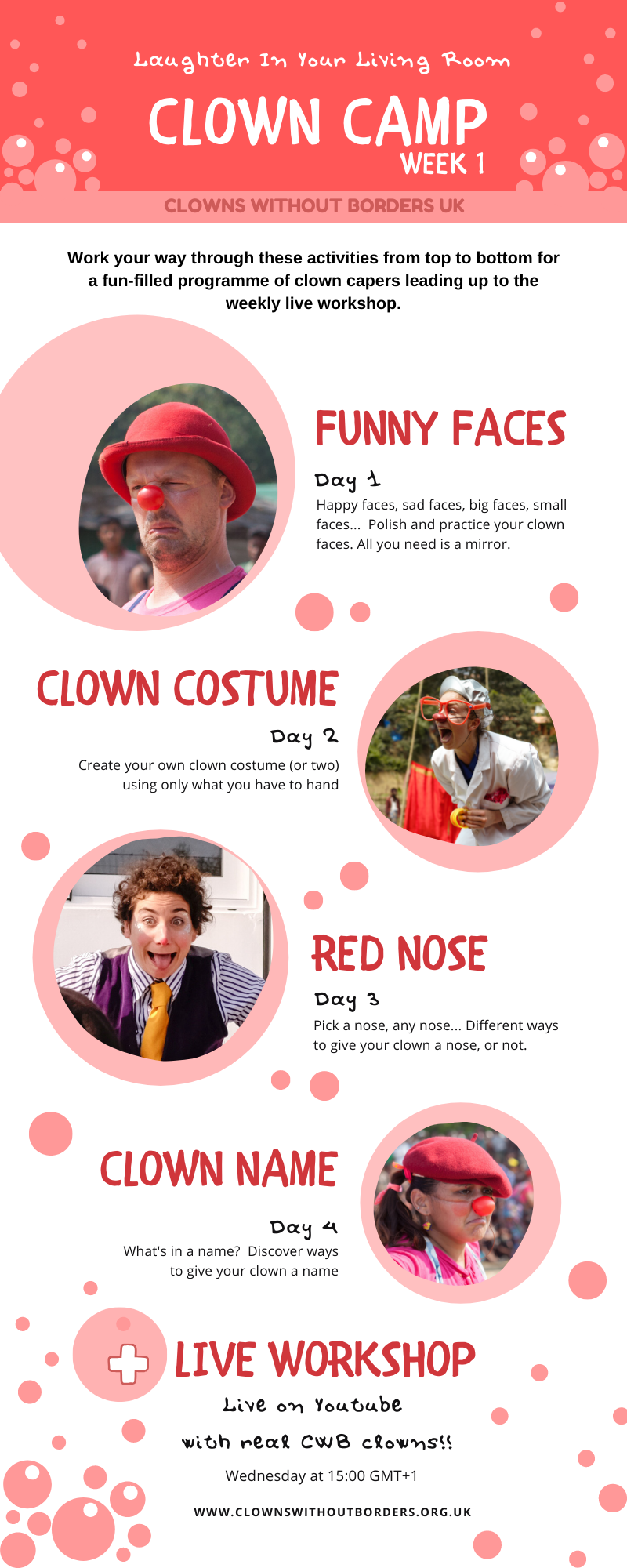 How to help your kids to be the perfect clown