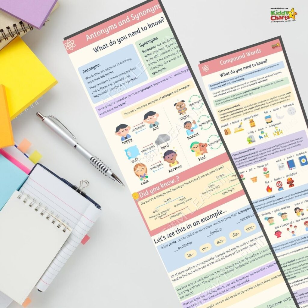 Free literacy antonyms and synonyms worksheets and summer courses from Atom Learning