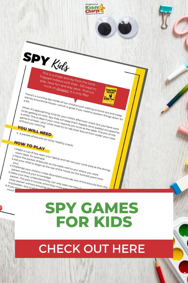 Printable Spy Game