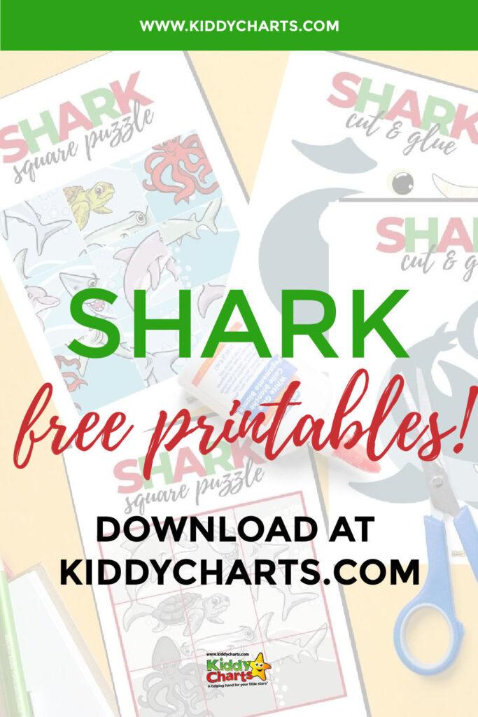 Free shark Craft Activities for Kids