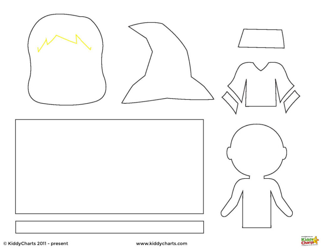 Witch Paper Doll Template