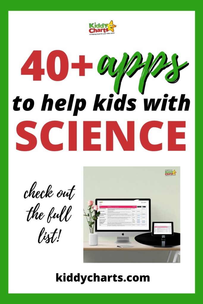 Apps to help Kids with science
