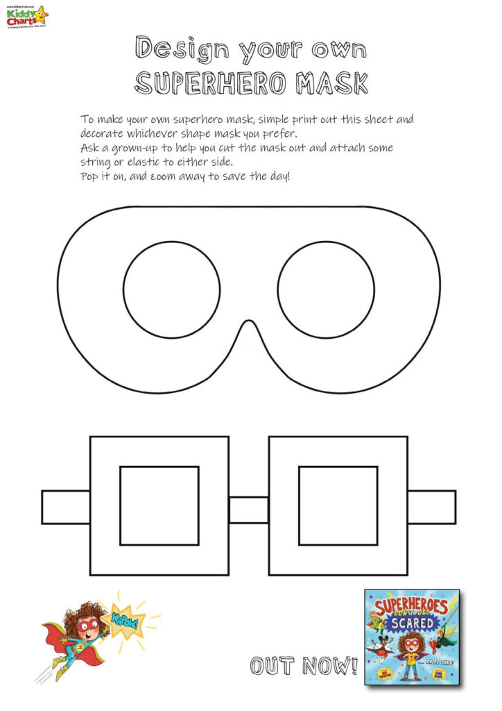 superhero mask shapes