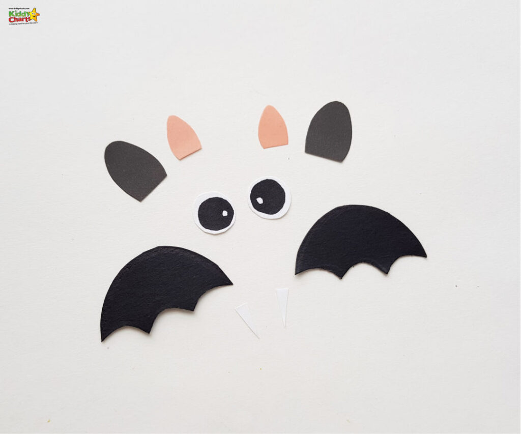 Cut out the elements of the bat