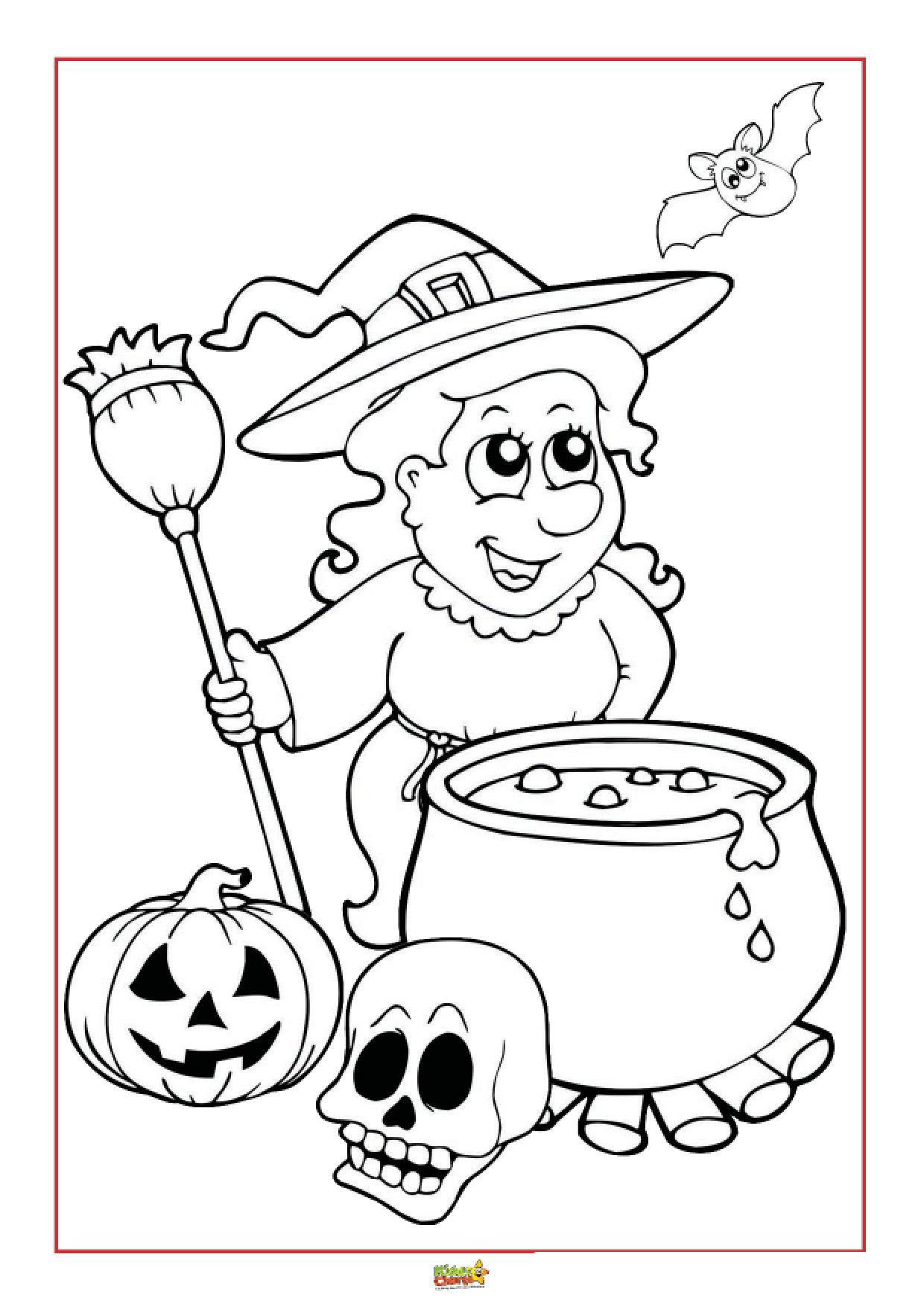 Halloween Colouring Pages