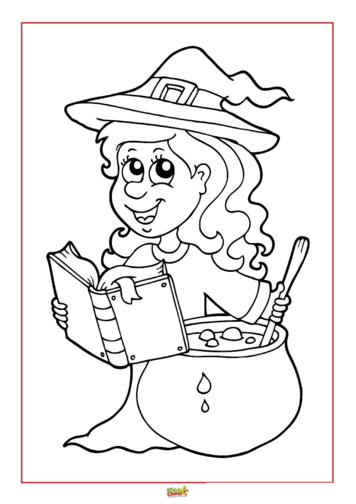 Halloween Colouring Pages For Kids Kiddycharts Com