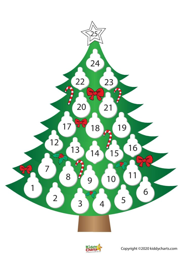 Printable Christmas Countdown Calendar