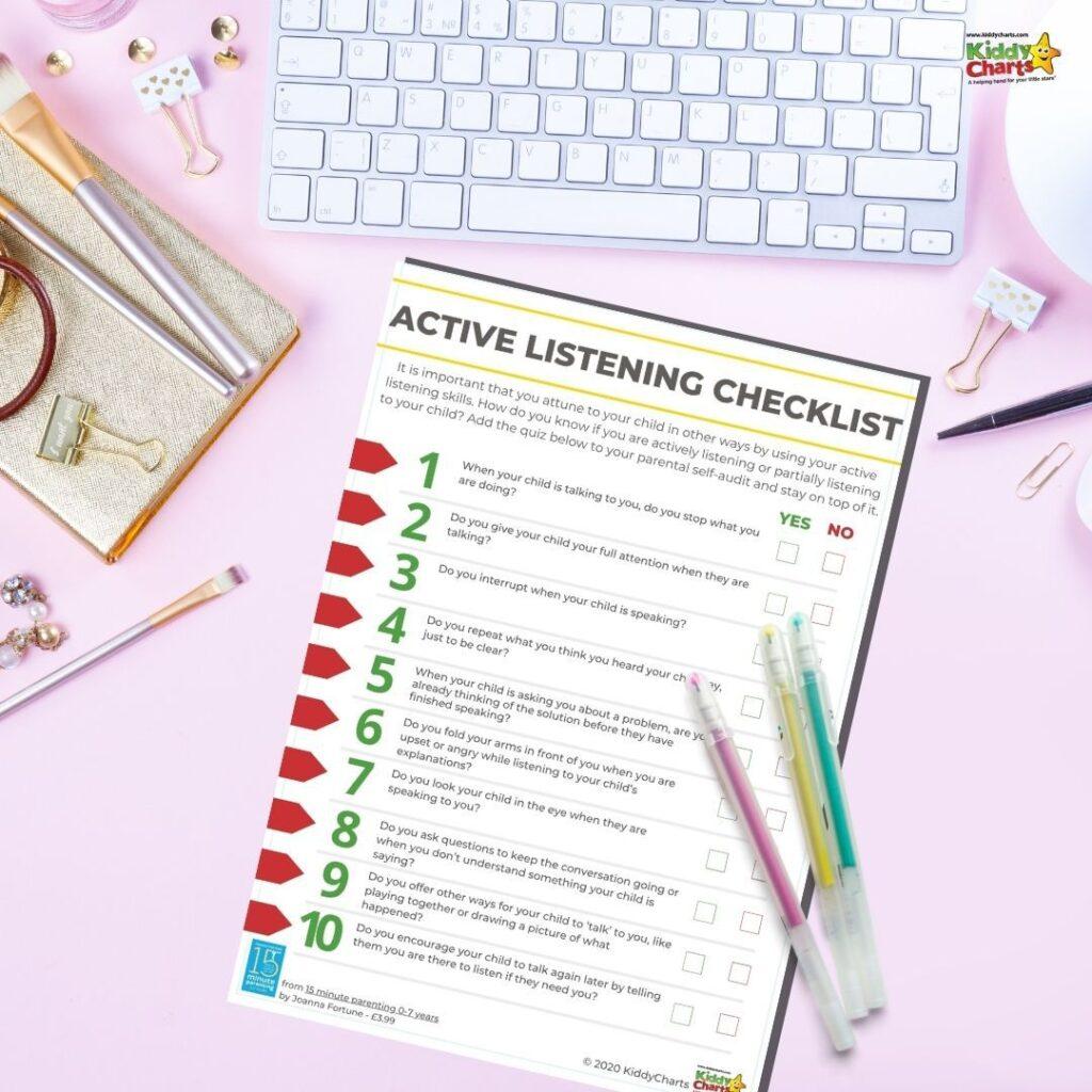 Active Listener Parent Checklist