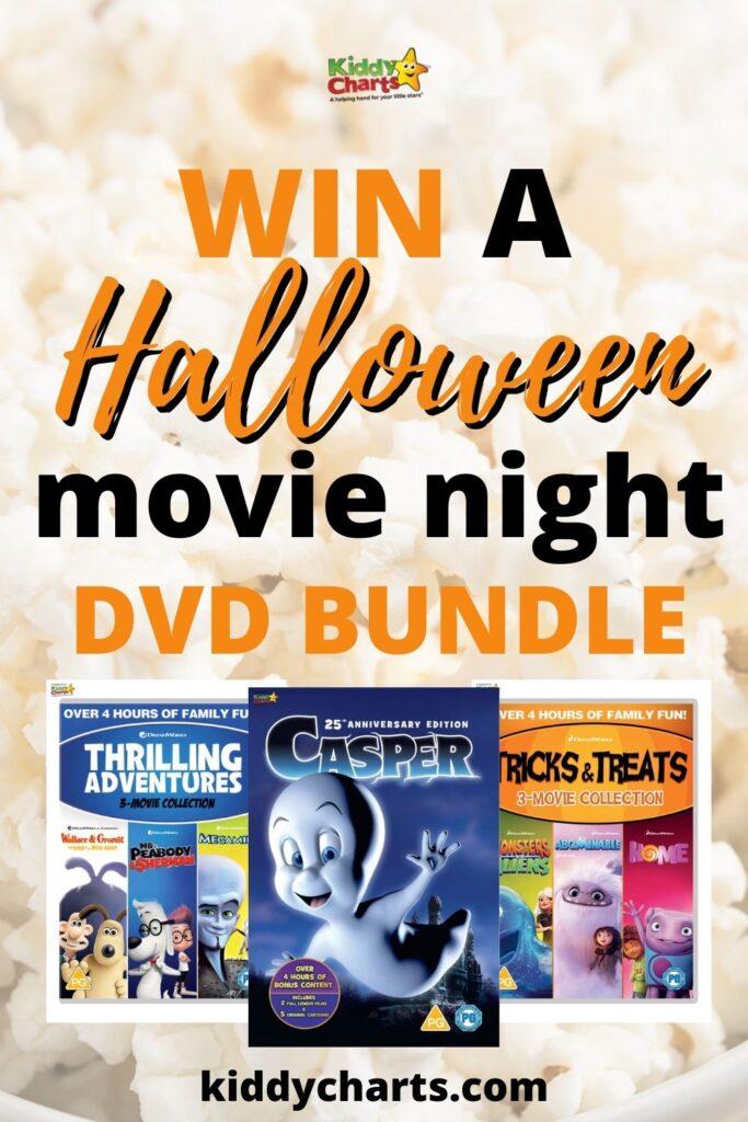 Win a DVD Bundle for a Kids Halloween Movie Night