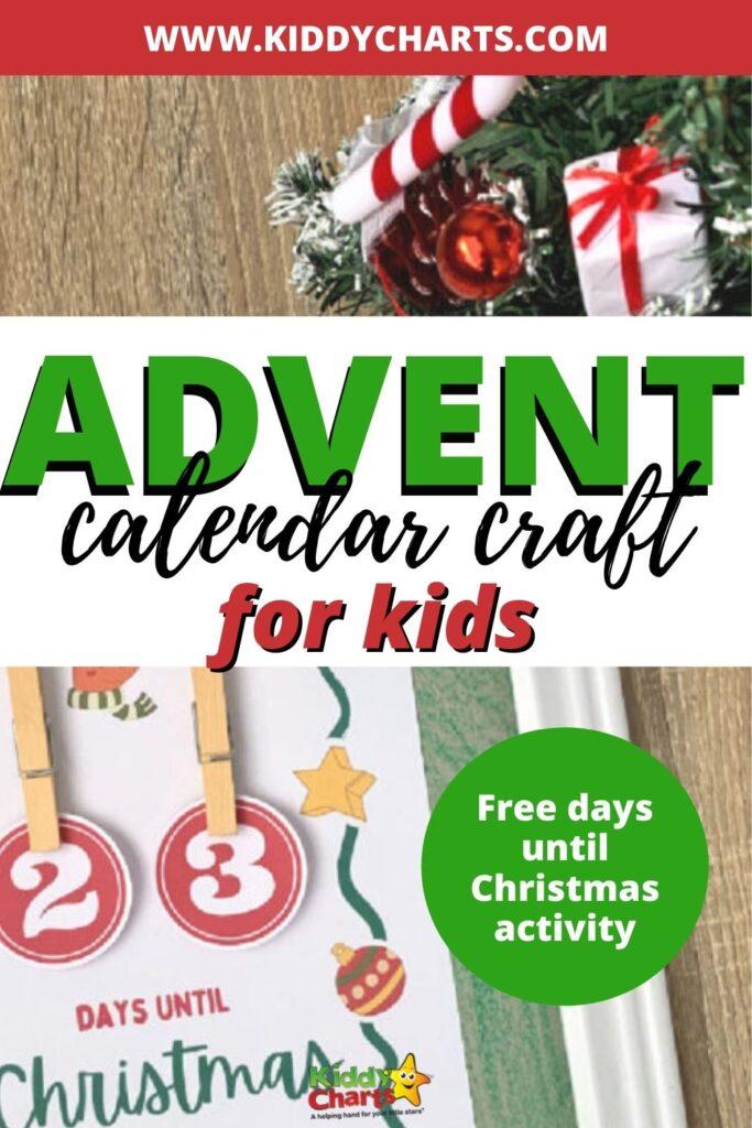 Advent calendar craft for kids