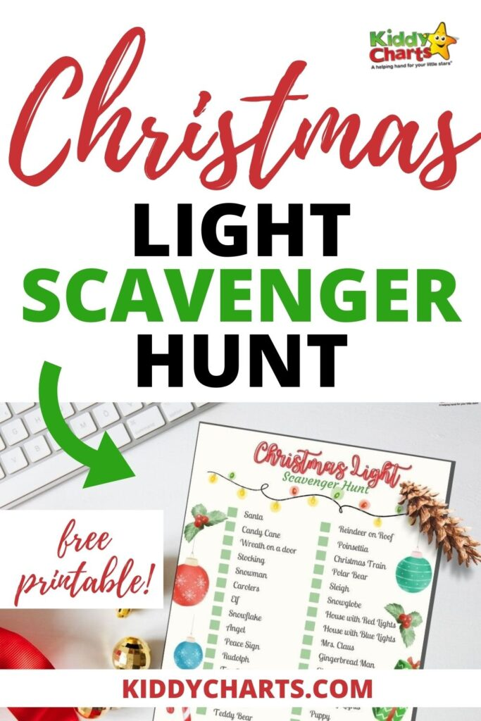 Outdoor and Indoor Christmas Scavenger Hunt