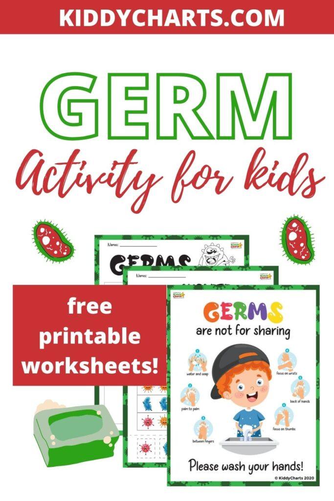 Germ Activity For Kids - Free Worksheets - Kiddycharts.com