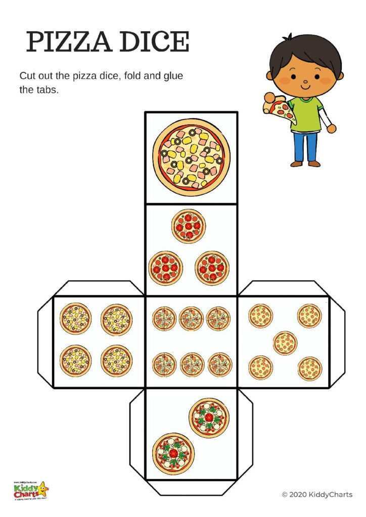 Pizza Printable Addition worksheets