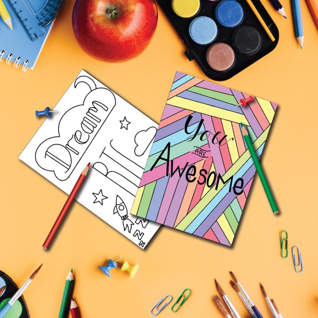 Positivity Postcards for Kids