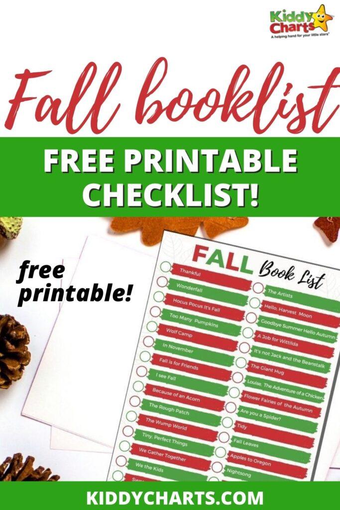 Autumn / Fall book list for kids