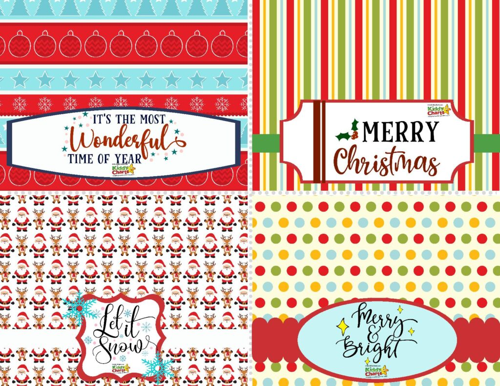Christmas Treat Bag Toppers for Stockings