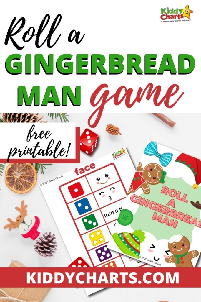 Roll a Gingerbread Man Game