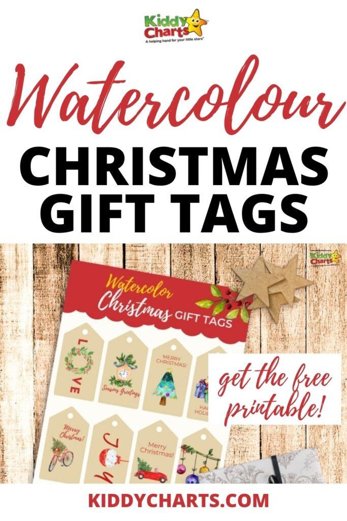 Free Christmas Present Gift Tags