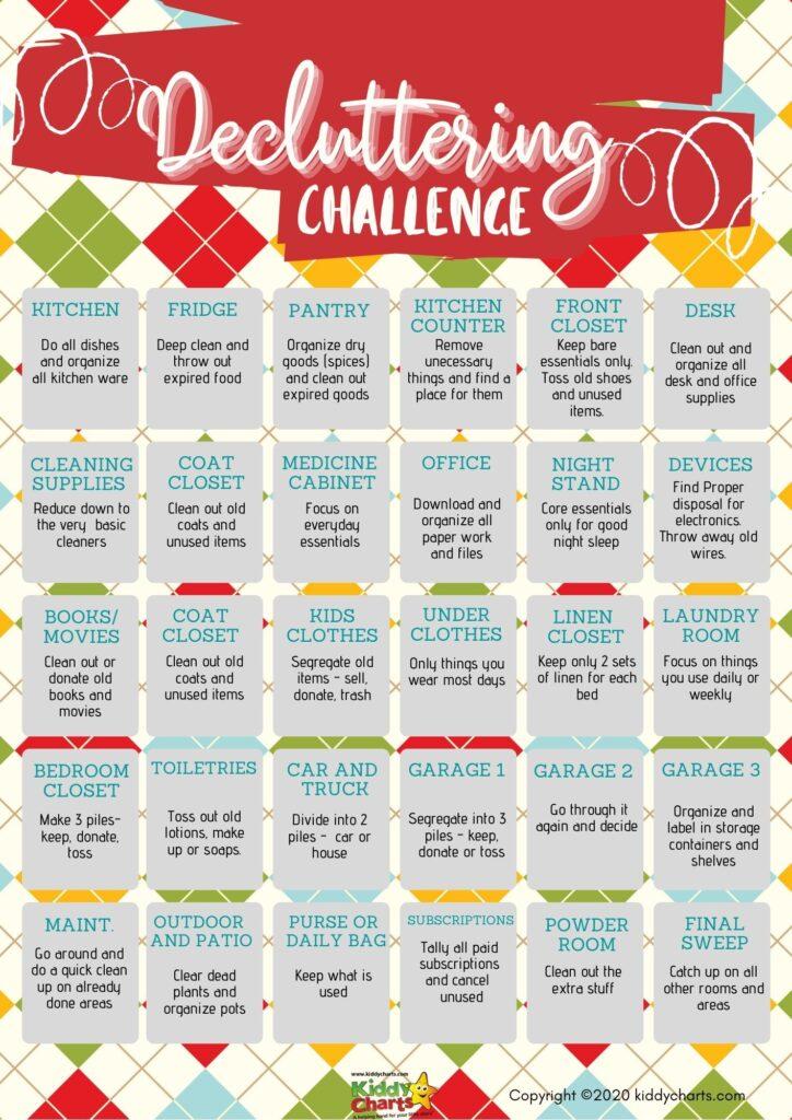 Decluttering Challenge for Families