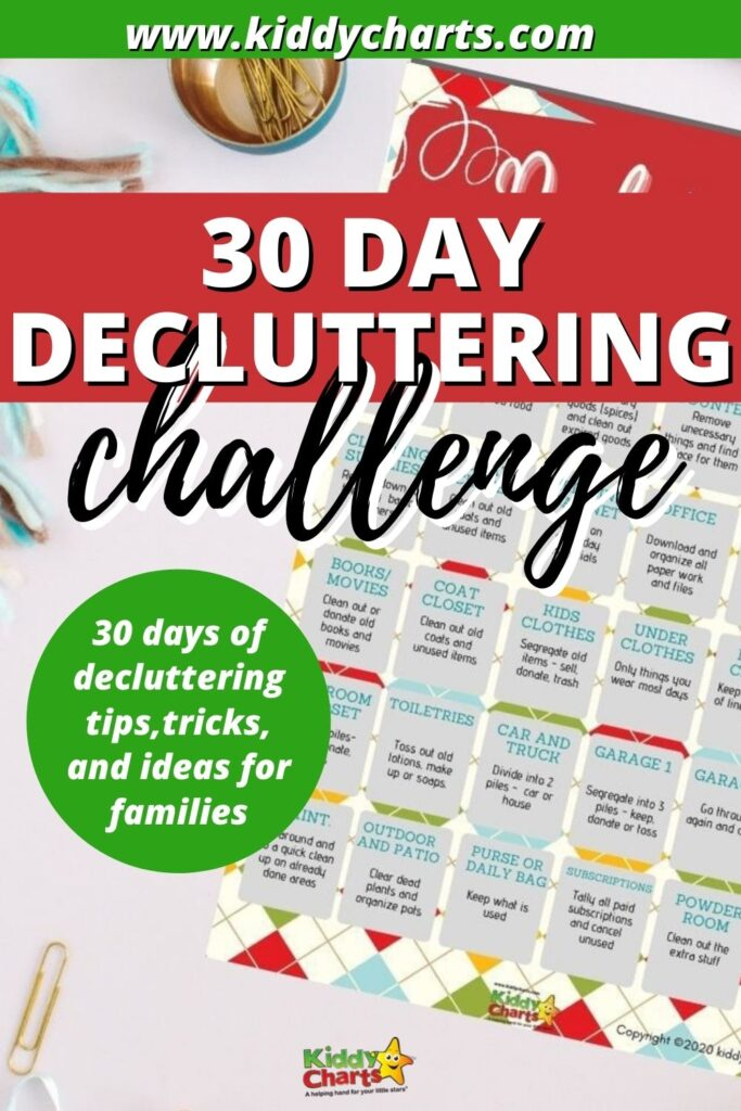 30-day Decluttering Challenge for Families