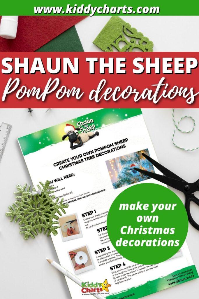 How to make a Shaun the Sheep pompom