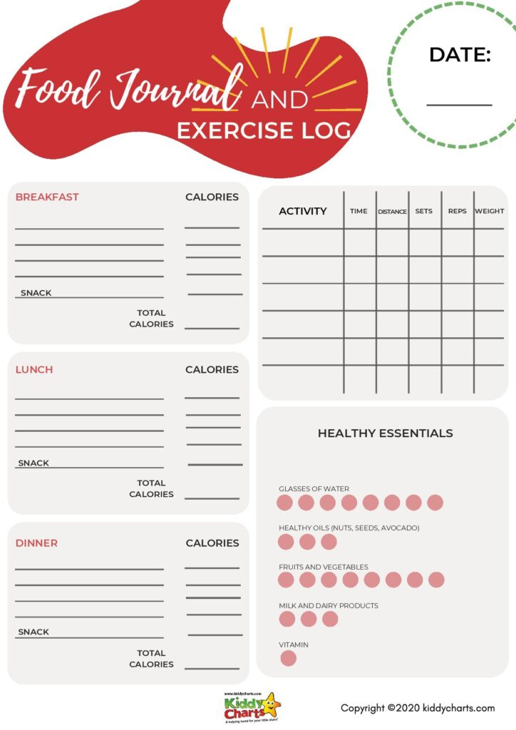 Food and exercise tracker