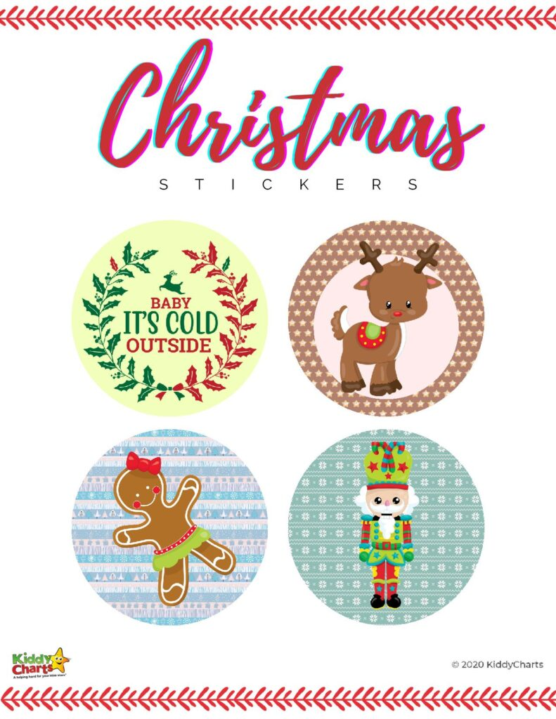 Print your own Christmas Stickers
