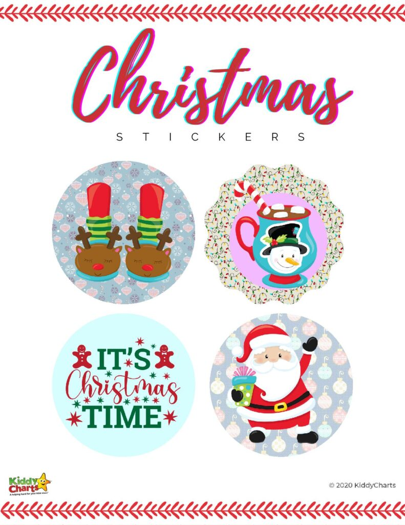 Christmas Stickers for Free