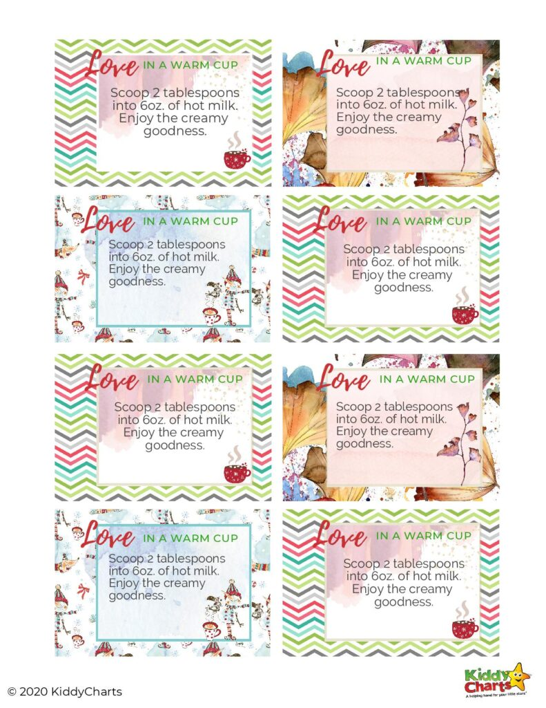 Free hot chocolate labels