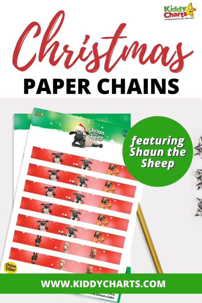 How to make paper chains: Shaun the Sheep
